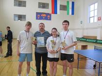 Соревнованиях по настольному теннису
