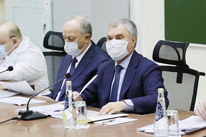 Встреча спикера Госдумы с представителями медицинских учреждений Саратова