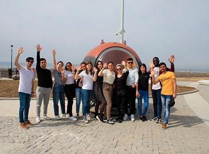Первый курс в гостях у Первого космонавта:  выездное занятие по страноведению России у иностранных студентов